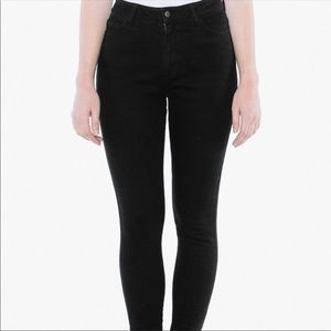 American Apparel High Waisted Skinny Jeans